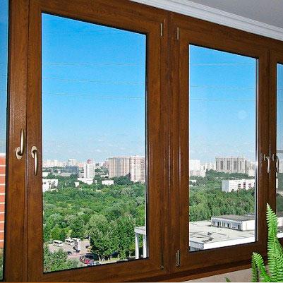Ламинированные окна на балкон. Окна Борна
