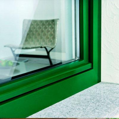 Ламинированные окна. Зеленый пластик. Окна Борна